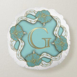 Coussin rond de la lettre G de monogramme