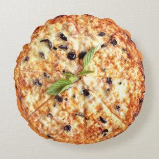 Coussin rond de pizza d'olives
