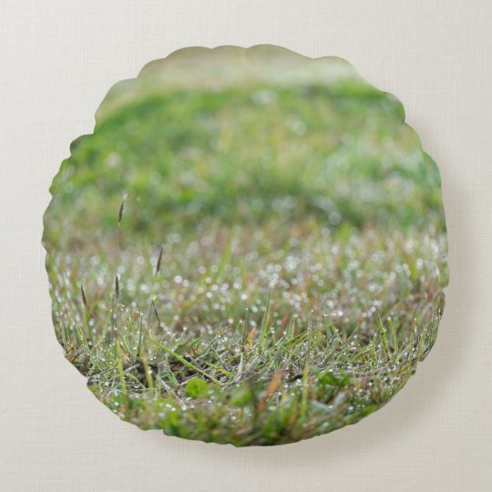 Coussin rond Herbe