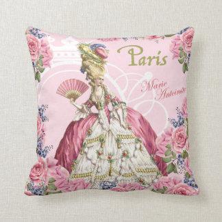 Coussin rose de cadre de roses de Marie Antoinette