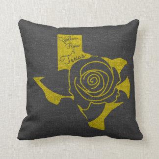 Coussin Rose jaune du Texas