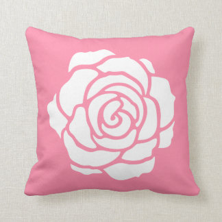 Coussin rose rose/blanc