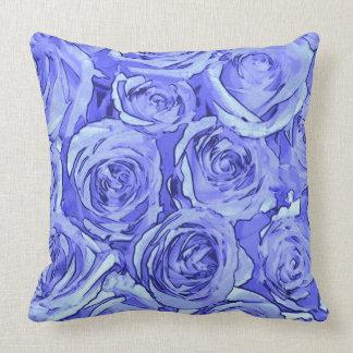 Coussin Roses bleu-clair