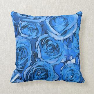 Coussin Roses de turquoise