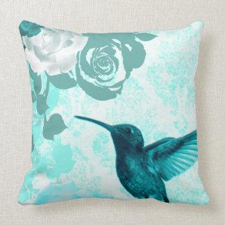 Coussin Roses et oiseaux de ronflement