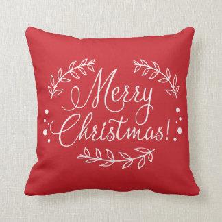 Coussin rouge et blanc de Joyeux Noël