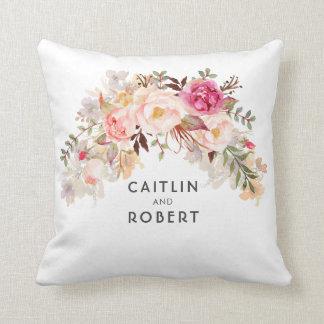 Coussin Rougissent romantiques élégants de fleurs roses