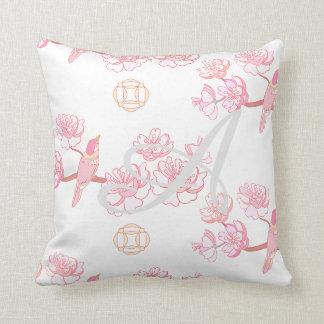 Coussin Sakura, fleur de ressort, fleurs de cerisier