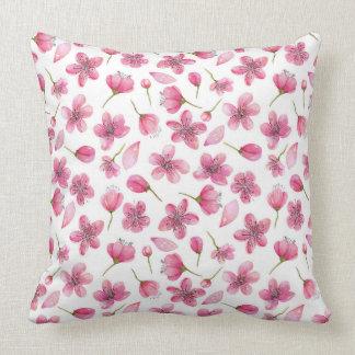 Coussin Sakura rose fleurit le carreau