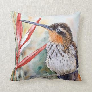 coussin Scie-affiché de beaux-arts de colibri