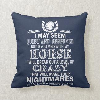 Coussin Si vous salissez avec mon cheval