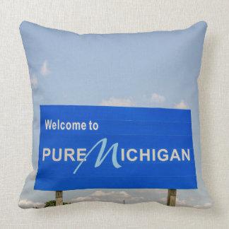 Coussin Signe bienvenu pur du Michigan