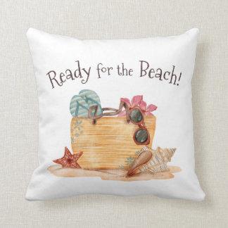 Coussin Simple préparez pour le carreau d'été de plage