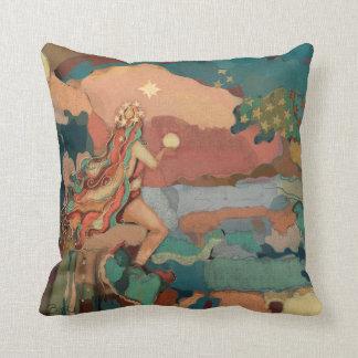 Coussin Sirène mystique d'étoiles toscanes de pastels