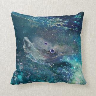 Coussin Sirène sous-marine mystique d'indigo