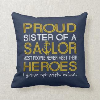 Coussin Soeur fière d'un marin