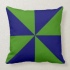 Coussin Soleil personnalisable de vert/bleu marine