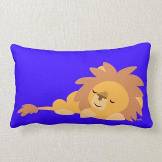 Coussin sommeillant de lion de bande dessinée