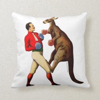 Coussin Sport vintage de boxe de boxeur de kangourou