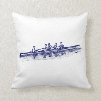 Coussin Sports aquatiques bleus d'équipe d'équipage de