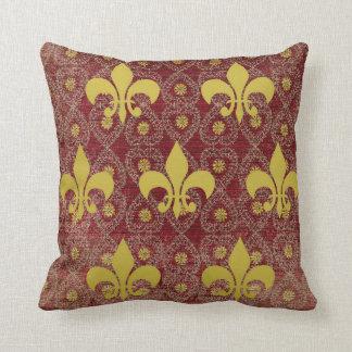 Coussin Style campagnard français rustique avec fleur de