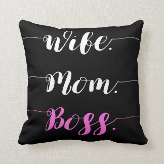 Coussin Style de calligraphie de patron de maman d'épouse