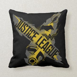 Coussin Symboles de ligue et d'équipe de justice de la