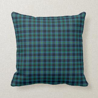 Coussin Tartan bleu et vert lumineux d'écossais de Miller