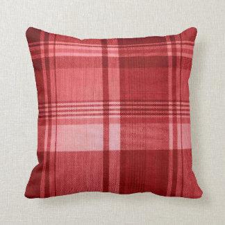 Coussin - tartan écossais rouge