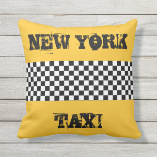 taxi jaune coussins. Black Bedroom Furniture Sets. Home Design Ideas