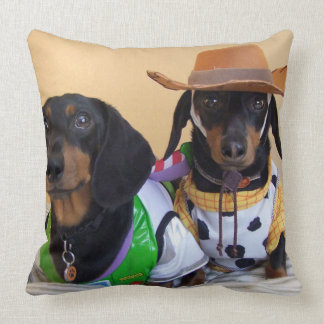 Coussin Teckel drôle - cowboy de chien