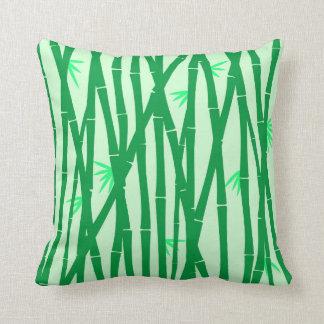 Coussin texture verte en bambou