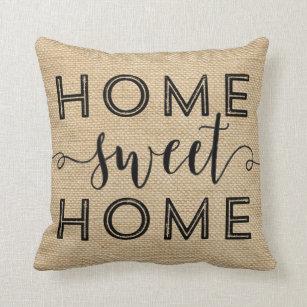 coussins rayures de toile jute. Black Bedroom Furniture Sets. Home Design Ideas