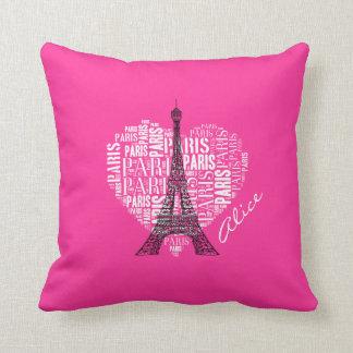 Coussin Tour Eiffel adorable de Paris | d'amour