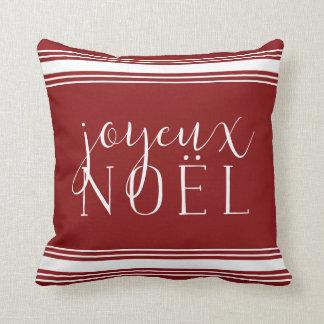 Coussin Vacances de rayure de Joyeux Noel Grainsack