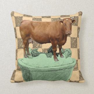 Coussin Vache à carreau