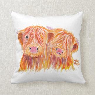 """Coussin Vaches des montagnes écossaises """"amis"""" sur le"""