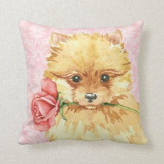 Coussin Valentine Pomeranian rose