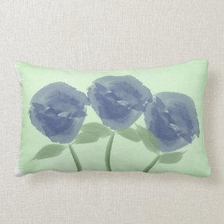 Coussin vert-bleu d'aquarelle assez en pastel de