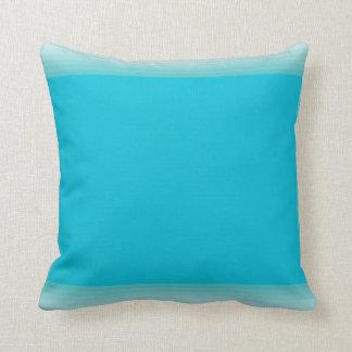 Coussin Vert bleu de rectangles modernes de la moitié du