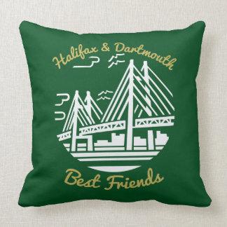 Coussin Vert de meilleurs amis de la Nouvelle-Écosse