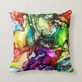 Coussin vibrant et coloré