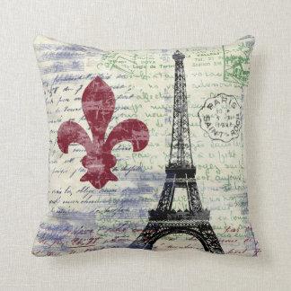 Coussin vintage d'art de la France de Tour Eiffel
