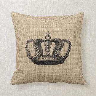 Coussin vintage de couronne