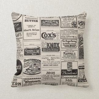 Coussin vintage de ferme de publicité de journal
