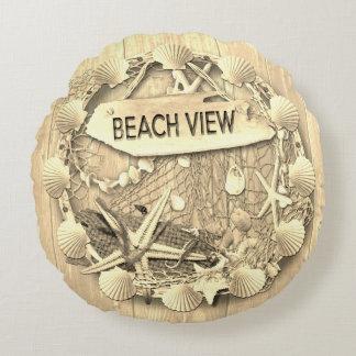 Coussin vintage de plage - vue de plage