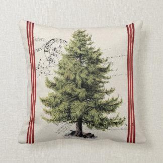 Coussin vintage de vacances de rayure d'arbre