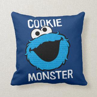 Coussin Visage de motif de monstre de biscuit
