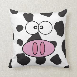 Coussin Visage de vache, nez de vache, taches de vache -