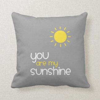 Coussin Vous êtes mon gris de soleil